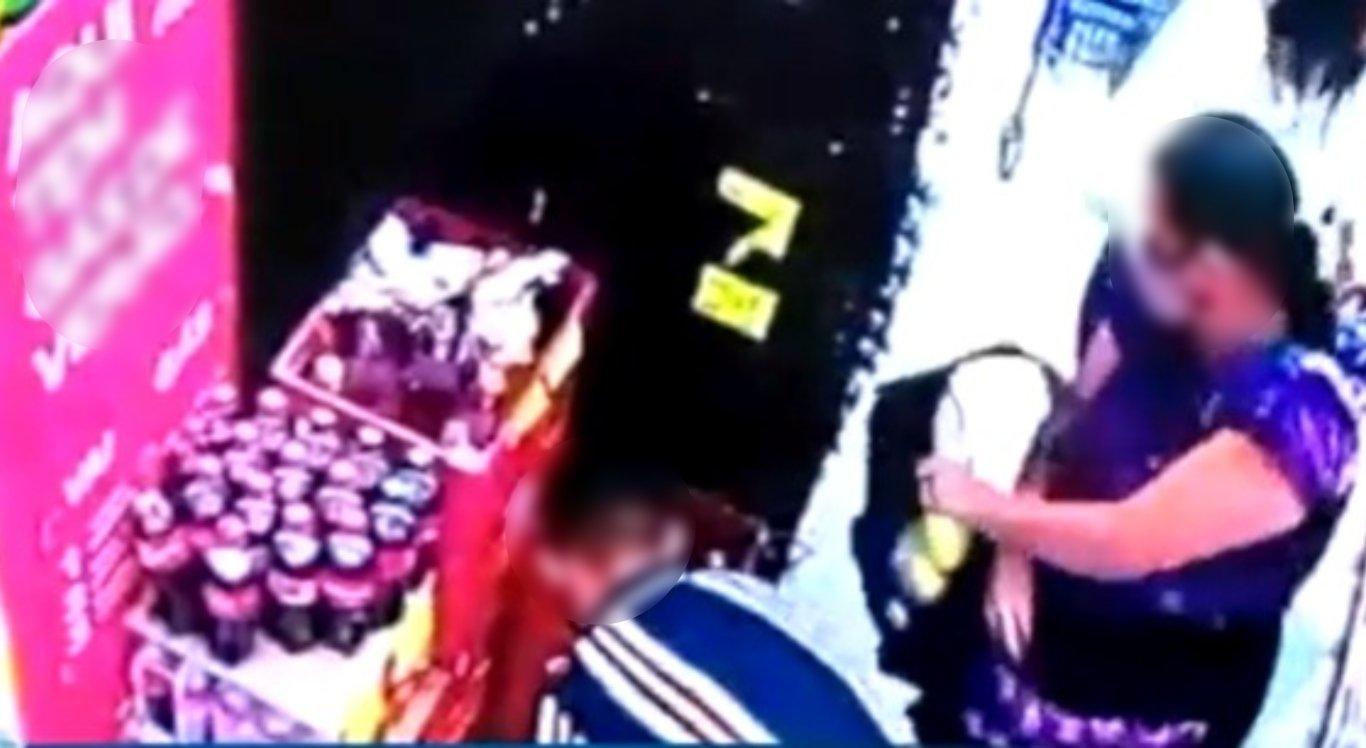 Câmeras flagram trio suspeito de furtar mercado em Caruaru