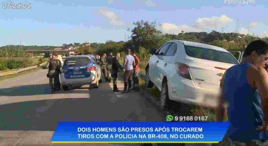 Homens são presos após trocar de tiros com a polícia em Jaboatão dos Guararapes