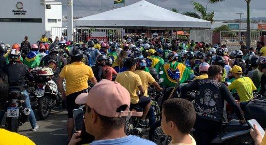Acompanhe em tempo real a Motociata do presidente Jair Bolsonaro no Agreste de Pernambuco