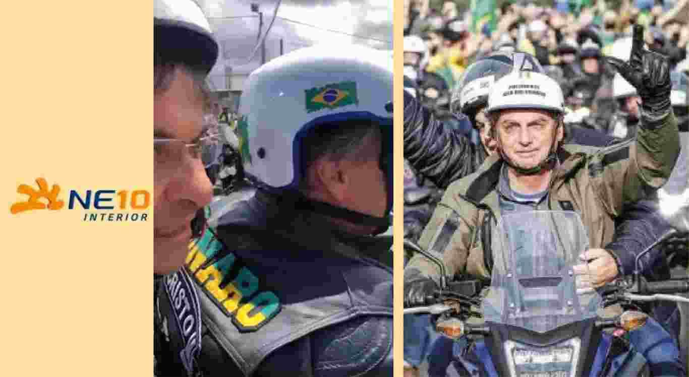 Gilson Machado na garupa de Jair Bolsonaro