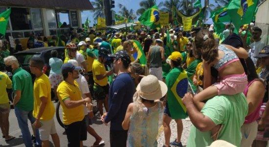 7 de Setembro: Veja as imagens dos manifestantes pró-Bolsonaro no Recife