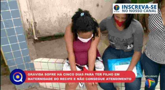 'Só ela sabe a dor', diz sogra de jovem grávida que sofre há 5 dias para ter filha em maternidade de Afogados