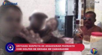 A enteada esperou a chegada da polícia e confessou o assassinato do padrasto