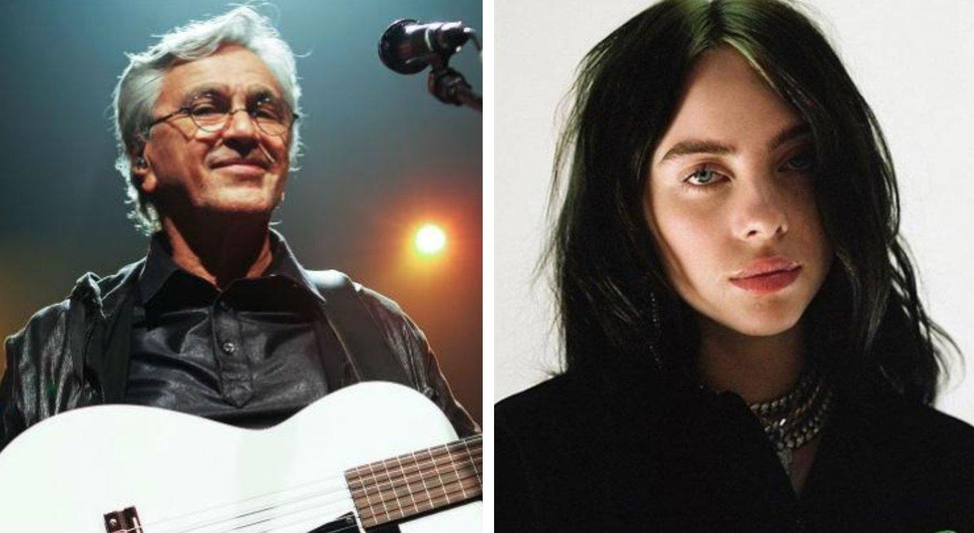 Fãs especulam parceria entre Caetano Veloso e Billie Eilish