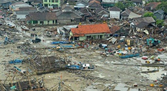Em 2018, um tsunami atingiu a Indonésia e deixou mais de 500 mortos
