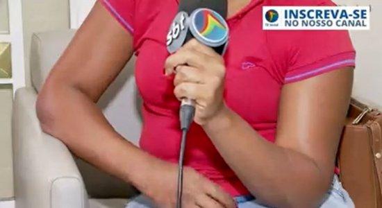 Mesmo abalada, avítima conversou com a equipe da TV Jornal