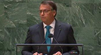 Presidente Jair Bolsonaro discursa na Assembleia Geral da ONU de 2021