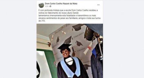 Estudante é assassinado a tiros durante festa com amigos em Nazaré da Mata