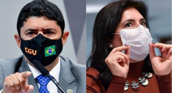 Vídeo: Ministro da CGU Wagner Rosário chama senadora Simone Tebet de 'descontrolada' e vira investigado na CPI da Covid