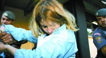 Suzane von Richthofen no dia do julgamento, em 2006