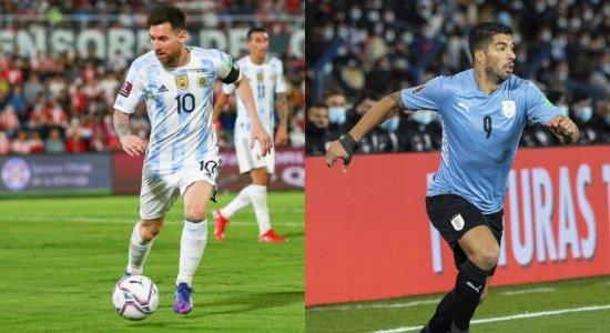 Eliminatórias: saiba onde assistir Argentina x Uruguai ao vivo, escalações e desfalques
