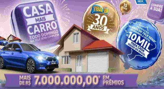 O valor da Tele Sena física e digital é o mesmo: R$ 12,00
