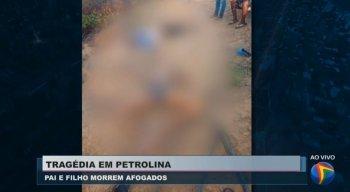 Pai e filho morreram afogados em Petrolina.