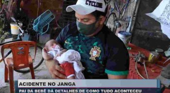 Pai de bebê que sofreu acidente em viatura no Janga pensa em incluir Vitória no nome da criança