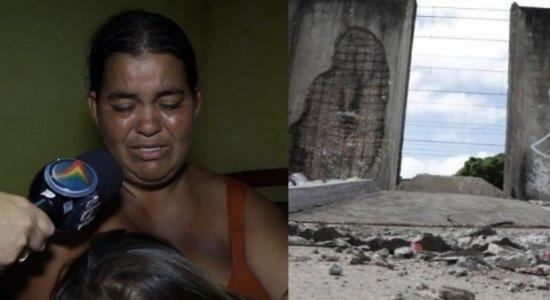 Mãe de menina ferida em queda de muro do Metrô do Recife chora ao lembrar como a filha estava após acidente