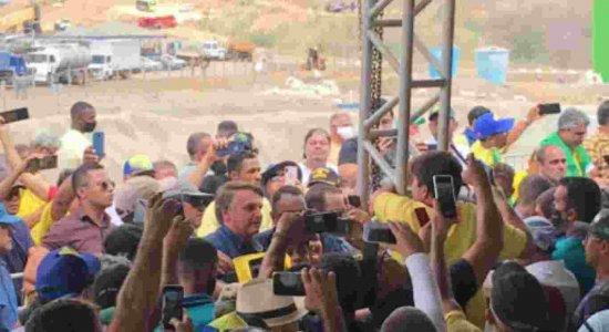 Por falta de verba federal, Ramal do Agreste inaugurado por Bolsonaro hoje (21) ainda não vai ser utilizado