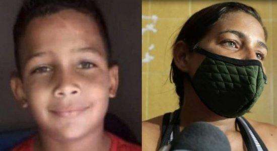 Mateus da Silva, de 7 anos, foi encontrado morto em um matagal em Chã de Cruz, no Grande Recife