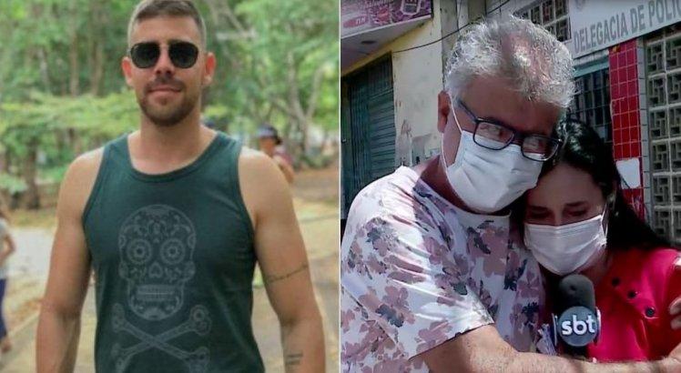 Repórter da TV Jornal se emociona e recebe abraço de pai do motorista de aplicativo encontrado morto