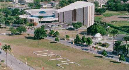Visão aérea (drone) da UFPE, Universidade Federal de Pernambuco