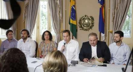 Coletiva de Imprensa no Palácio do Governo para divulgação do novo Boletim do Coronavírus