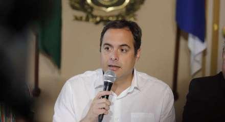 Paulo Câmara, Governador de Pernambuco. Coletiva de Imprensa no Palácio do Governo para divulgação do novo Boletim do Coronavírus