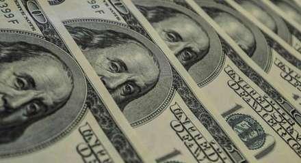 Imagem fechada na cédula de dólar. dolar