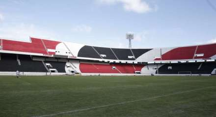 ESPORTES  Coletiva, estádio pintado e aquecimento no Arruda, Santa Cruz Futebol  futebol - coletiva - estádio - Campo -  ##
