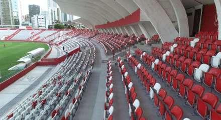 Foto: Arnaldo Carvalho/JC Imagem Data: 11-12-2018 Assunto: ESPORTES - Vista aérea do Estádio dos Afiltos. Palavras-chave: Náutico - Futebol - Gramado - Voltando pra casa
