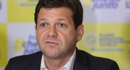 Prefeito do Recife Geraldo Julio em entrevista coletiva sobre a ações da prefeitura no combate a disseminação do Coronavírus, COVID-19.
