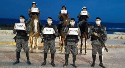 Luta: Polícia Militar está nas ruas para garantir a segurança da população