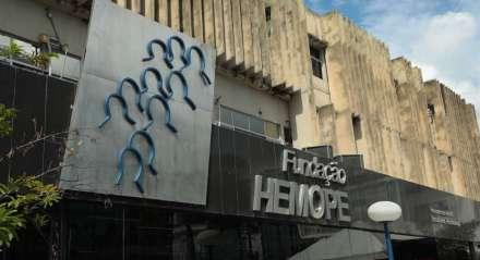 FOTO: JAILTON JR/JC IMAGEM DATA: 26.03.2020 ASSUNTO: Movimentação no HEMOPE, doação de sangue nesta quinta (26) devido a pandemia do Coronavírus.