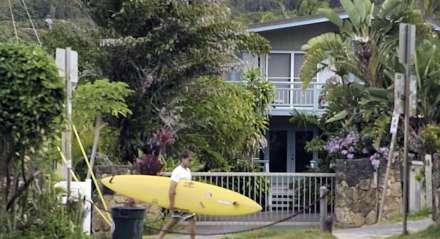 Carlos Burle frequenta desde 1988 a ilha de Oahu no Havaí.