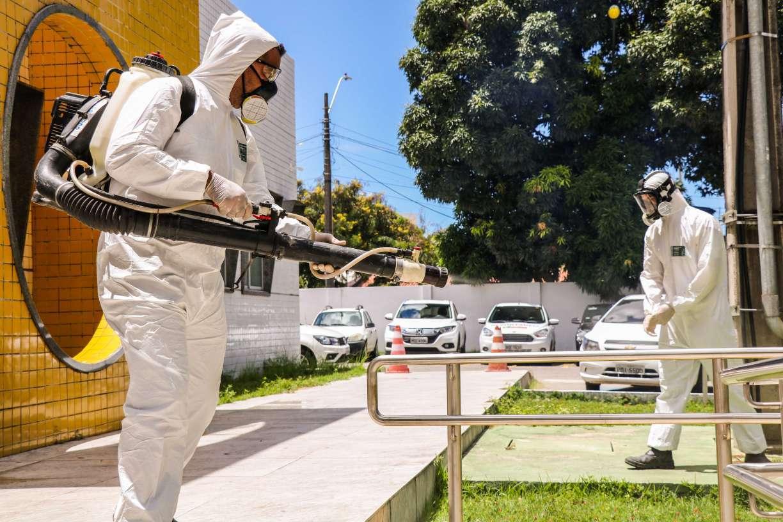 Unidades de saúde do Recife passam por desinfecção por causa do coronavírus