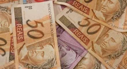 cédulas de real. dinheiro. Moeda