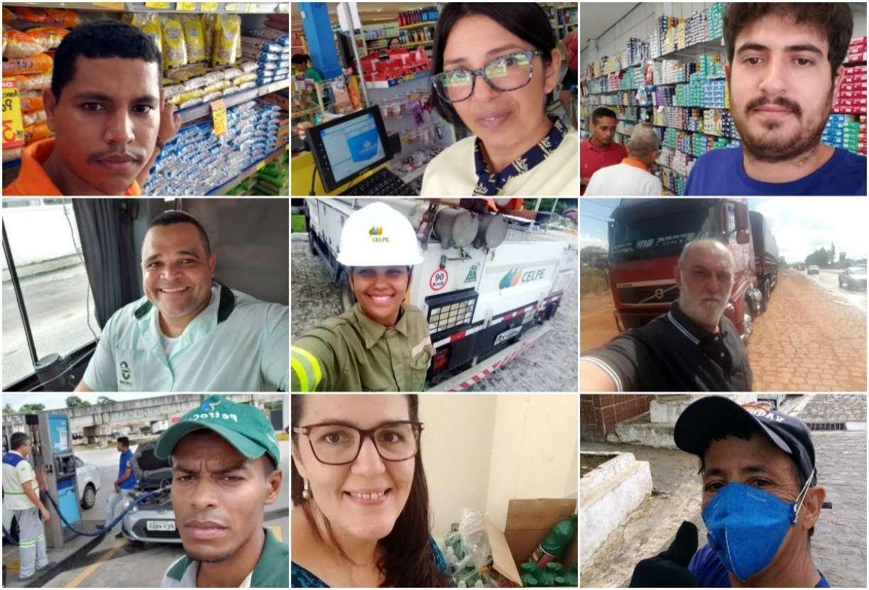 Histórias de brasileiros que, entre milhões, não deixam o Brasil parar no enfrentamento ao novo coronavírus