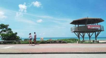 Orla da praia de Boa Viagem, no Recife