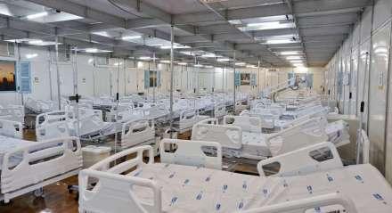 Novos leitos provisórios para tratamento do Coronavírus (Covid19) montados na Maternidade Barros Lima. A unidade foi apresentada pelo Secretário de Saúde do Recife, Jailson Correia. Combate a pandemia do Coronavíros no Recife, Pernambuco