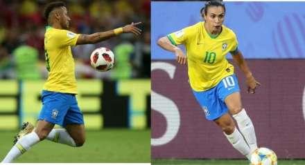 Neymar e Marta estão engajados em campanhas de combate ao novo coronavírus