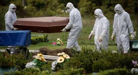 cemitério, enterro, coronavírus