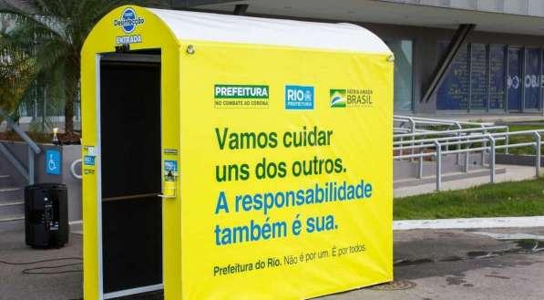 Túnel de Desinfecção/Divulgação