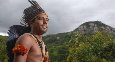 Foto: Helia Scheppa/JC Imagem Data: 24/03/2008 Assunto: CIDADES - Especial Indios - Tribo Xukuru-Xucuru de Ororuba, em Pesqueira. Na foto destaque para o Cacique Marcos Luidson  - Marquinhos - filho do Cacique Xicao Xukuru, morto em 1998