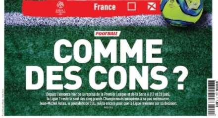 Capa do jornal francês traz a manchete: