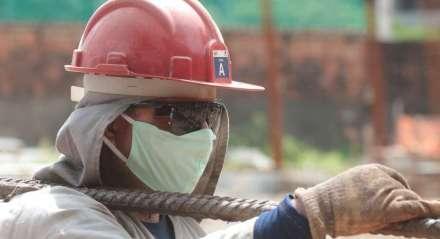 Primeiro dia de liberação para o funcionamento da construção civil em Pernambuco. Pandemia de novo Coronavírus, Covid-19.