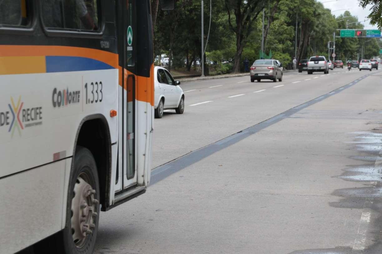 Faixa Azul para ônibus começa a ser implantada na Agamenon Magalhães e entra em operação na terça (16)