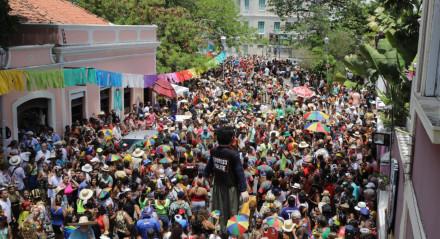 Foto: xxxxxxxx / JC Imagem data: 24-2-2020 Assunto:  Desfile dos Bonecos Gigantes Carnaval Olinda 2020.  ##