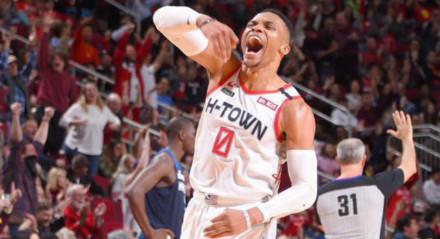 Westbrook, armador do Houston Rockets, está com covid-19