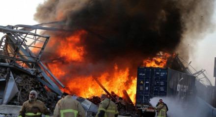 A explosão aconteceu nesta terça-feira (4), na região portuária de Beirute.
