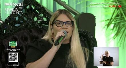Live de Marília Mendonça atingiu 3,3 milhões de visualizações simultâneas