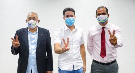 Anderson Ferreira, prefeito de Jaboatão dos Guararapes, e Pastor Joselito e Vilmar da Mudança, vereadores de Jaboatão dos Guararapes