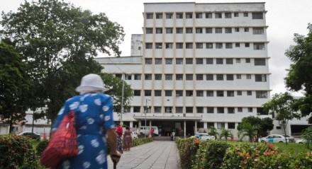 Fachada do hospital Barão de Lucena